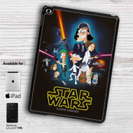 "Phineas and Ferb Star Wars iPad 2 3 4 iPad Mini 1 2 3 4 iPad Air 1 2 | Samsung Galaxy Tab 10.1"" Tab 2 7"" Tab 3 7"" Tab 3 8"" Tab 4 7"" Case"