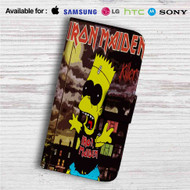 Iron Maiden The Simpsons Custom Leather Wallet iPhone Samsung Galaxy LG Motorola Nexus Sony HTC Case
