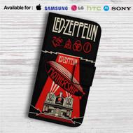 Led Zeppelin Mothership Custom Leather Wallet iPhone Samsung Galaxy LG Motorola Nexus Sony HTC Case