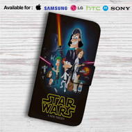 Phineas and Ferb Star Wars Custom Leather Wallet iPhone Samsung Galaxy LG Motorola Nexus Sony HTC Case