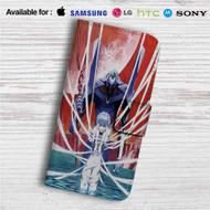 Rei Neon Genesis Evangelion Custom Leather Wallet iPhone Samsung Galaxy LG Motorola Nexus Sony HTC Case