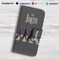 The Joker X The Beatles Custom Leather Wallet iPhone Samsung Galaxy LG Motorola Nexus Sony HTC Case