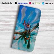 Toothless and Stitch Custom Leather Wallet iPhone Samsung Galaxy LG Motorola Nexus Sony HTC Case