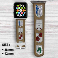 Attack On Titan Emblem Custom Apple Watch Band Leather Strap Wrist Band Replacement 38mm 42mm