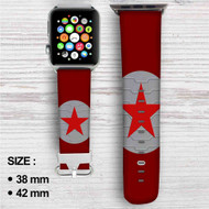 Bucky Barnes Red Star Captain America Custom Apple Watch Band Leather Strap Wrist Band Replacement 38mm 42mm
