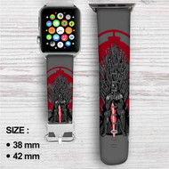 Darth Vader Game of Thrones Custom Apple Watch Band Leather Strap Wrist Band Replacement 38mm 42mm