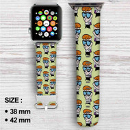 Dexters Laboratory Collage Custom Apple Watch Band Leather Strap Wrist Band Replacement 38mm 42mm