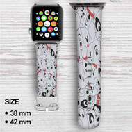 Disney 101 Dalmatians Custom Apple Watch Band Leather Strap Wrist Band Replacement 38mm 42mm