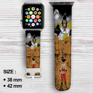 Dragon Ball Z X Attack on Titan Custom Apple Watch Band Leather Strap Wrist Band Replacement 38mm 42mm