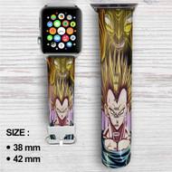 Majin Vegeta Custom Apple Watch Band Leather Strap Wrist Band Replacement 38mm 42mm