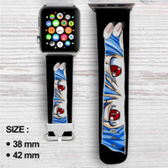 Neon Genesis Evangelion Rei Ayanami Custom Apple Watch Band Leather Strap Wrist Band Replacement 38mm 42mm