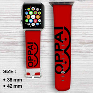 Oppai One Punch Man Custom Apple Watch Band Leather Strap Wrist Band Replacement 38mm 42mm