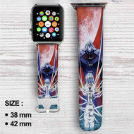 Rei Neon Genesis Evangelion Custom Apple Watch Band Leather Strap Wrist Band Replacement 38mm 42mm