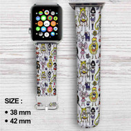 Sailor Moon Collage Custom Apple Watch Band Leather Strap Wrist Band Replacement 38mm 42mm
