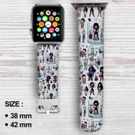 Steven Universe Collage Custom Apple Watch Band Leather Strap Wrist Band Replacement 38mm 42mm