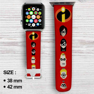 The Incredibles Superheroes Custom Apple Watch Band Leather Strap Wrist Band Replacement 38mm 42mm