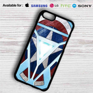 Captain America Shield Iron Man Arc Reactor on your case iphone 4 4s 5 5s 5c 6 6plus 7 Samsung Galaxy s3 s4 s5 s6 s7 HTC Case