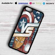 Captain America Vs Iron Man on your case iphone 4 4s 5 5s 5c 6 6plus 7 Samsung Galaxy s3 s4 s5 s6 s7 HTC Case