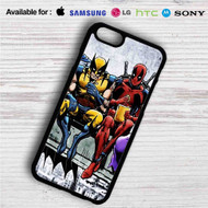 Deadpool and Wolverine Breakfast on your case iphone 4 4s 5 5s 5c 6 6plus 7 Samsung Galaxy s3 s4 s5 s6 s7 HTC Case