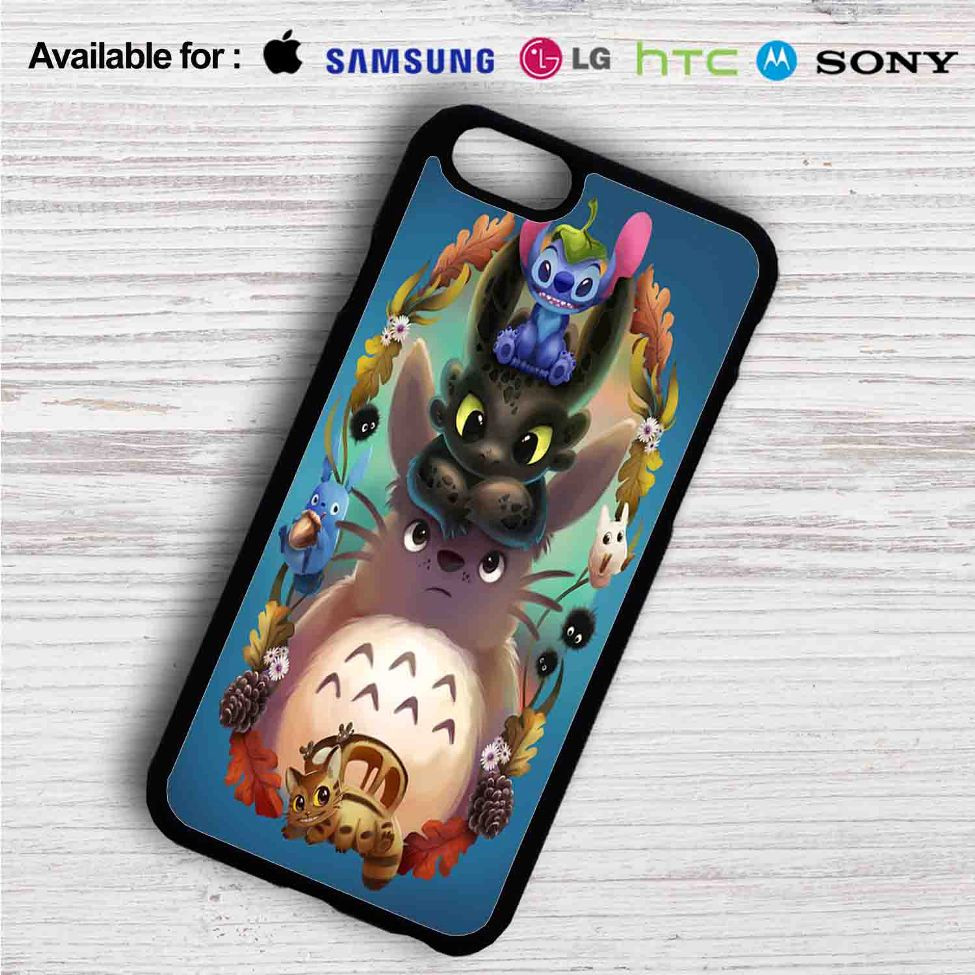 quality design 34b7a 00149 Disney Stitch Toothless Totoro Studio Ghibli on your case iphone 4 4s 5 5s  5c 6 6plus 7 Samsung Galaxy s3 s4 s5 s6 s7 HTC Case