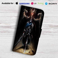 Artorias of the Abyss and Black Dragon Kalameet Custom Leather Wallet iPhone 4/4S 5S/C 6/6S Plus 7| Samsung Galaxy S4 S5 S6 S7 Note 3 4 5| LG G2 G3 G4| Motorola Moto X X2 Nexus 6| Sony Z3 Z4 Mini| HTC ONE X M7 M8 M9 Case