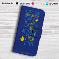 Disney Dory Quotes Custom Leather Wallet iPhone 4/4S 5S/C 6/6S Plus 7| Samsung Galaxy S4 S5 S6 S7 Note 3 4 5| LG G2 G3 G4| Motorola Moto X X2 Nexus 6| Sony Z3 Z4 Mini| HTC ONE X M7 M8 M9 Case