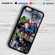 Hulk The Flash Superman Venom Breakfast on your case iphone 4 4s 5 5s 5c 6 6plus 7 Samsung Galaxy s3 s4 s5 s6 s7 HTC Case