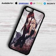 Kurisu Makise Steins Gate on your case iphone 4 4s 5 5s 5c 6 6plus 7 Samsung Galaxy s3 s4 s5 s6 s7 HTC Case