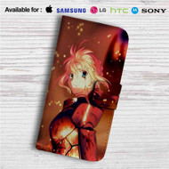 Fate Zero Stay Night Saber With Armors Custom Leather Wallet iPhone 4/4S 5S/C 6/6S Plus 7| Samsung Galaxy S4 S5 S6 S7 Note 3 4 5| LG G2 G3 G4| Motorola Moto X X2 Nexus 6| Sony Z3 Z4 Mini| HTC ONE X M7 M8 M9 Case