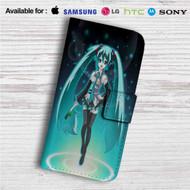 Hatsune Miku Custom Leather Wallet iPhone 4/4S 5S/C 6/6S Plus 7  Samsung Galaxy S4 S5 S6 S7 Note 3 4 5  LG G2 G3 G4  Motorola Moto X X2 Nexus 6  Sony Z3 Z4 Mini  HTC ONE X M7 M8 M9 Case
