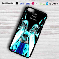 Sans Undertale on your case iphone 4 4s 5 5s 5c 6 6plus 7 Samsung Galaxy s3 s4 s5 s6 s7 HTC Case
