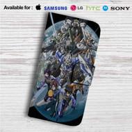Mobile Suit Gundam 00 Custom Leather Wallet iPhone 4/4S 5S/C 6/6S Plus 7| Samsung Galaxy S4 S5 S6 S7 Note 3 4 5| LG G2 G3 G4| Motorola Moto X X2 Nexus 6| Sony Z3 Z4 Mini| HTC ONE X M7 M8 M9 Case