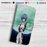Neon Genesis Evangelion Rei Ayanami Custom Leather Wallet iPhone 4/4S 5S/C 6/6S Plus 7| Samsung Galaxy S4 S5 S6 S7 Note 3 4 5| LG G2 G3 G4| Motorola Moto X X2 Nexus 6| Sony Z3 Z4 Mini| HTC ONE X M7 M8 M9 Case