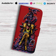 Samus Metroid Custom Leather Wallet iPhone 4/4S 5S/C 6/6S Plus 7  Samsung Galaxy S4 S5 S6 S7 Note 3 4 5  LG G2 G3 G4  Motorola Moto X X2 Nexus 6  Sony Z3 Z4 Mini  HTC ONE X M7 M8 M9 Case