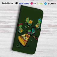 Teenage Mutant Ninja Turtles Pizza Time Custom Leather Wallet iPhone 4/4S 5S/C 6/6S Plus 7| Samsung Galaxy S4 S5 S6 S7 Note 3 4 5| LG G2 G3 G4| Motorola Moto X X2 Nexus 6| Sony Z3 Z4 Mini| HTC ONE X M7 M8 M9 Case