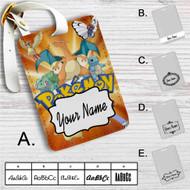 Ash and Pokemon Custom Leather Luggage Tag