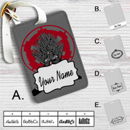 Darth Vader Game of Thrones Custom Leather Luggage Tag
