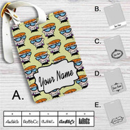 Dexters Laboratory Collage Custom Leather Luggage Tag