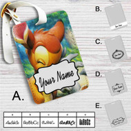 Disney Bambi and Thumper Custom Leather Luggage Tag