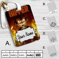 Gravity Falls Bipper Custom Leather Luggage Tag