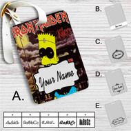Iron Maiden The Simpsons Custom Leather Luggage Tag