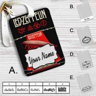 Led Zeppelin Mothership Custom Leather Luggage Tag