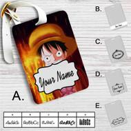 Luffy One Piece Custom Leather Luggage Tag