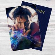 Doctor Strange Marvel Custom Leather Passport Wallet Case Cover