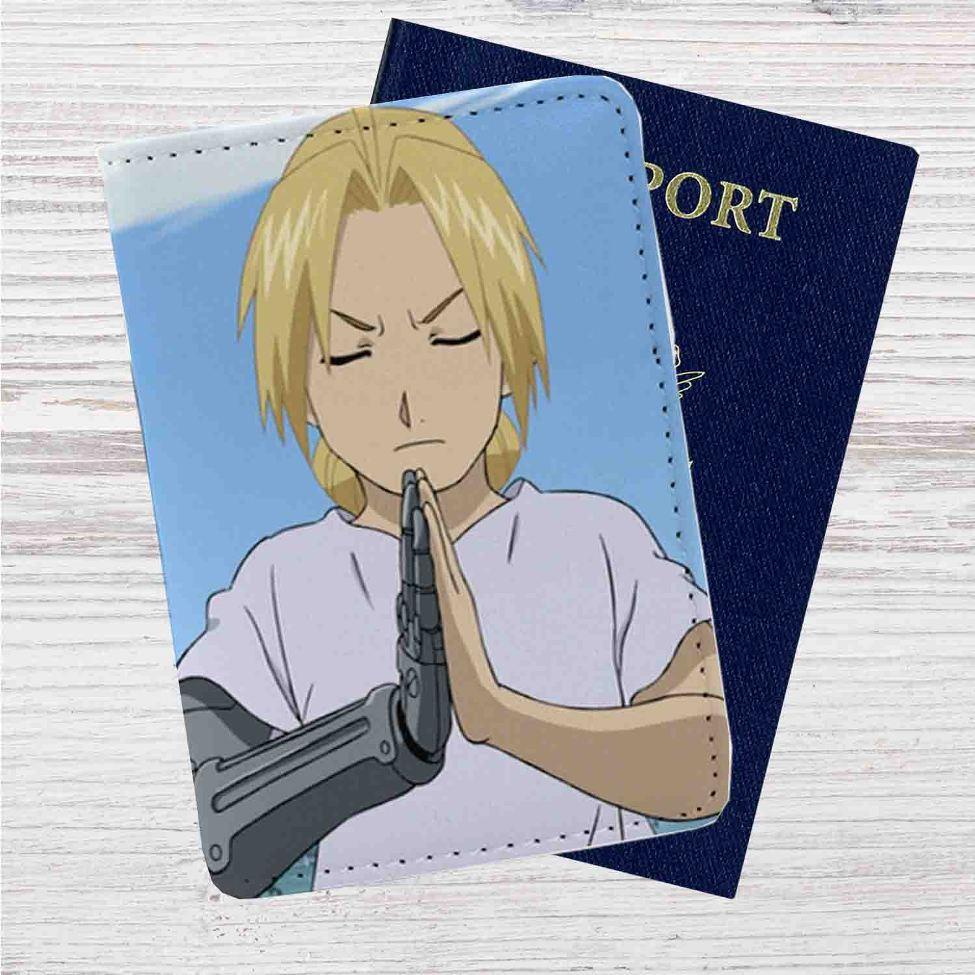 Edward Elric Fullmetal Alchemist Custom Leather Passport ...
