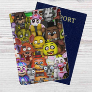 Five Nights at Freddys Custom Leather Passport Wallet Case Cover