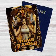 Lara Croft Tomb Raider Custom Leather Passport Wallet Case Cover