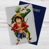 Luffy and Zoro One Piece Custom Leather Passport Wallet Case Cover
