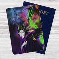 Maleficent Custom Leather Passport Wallet Case Cover