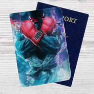 Ryu Street Fighter Custom Leather Passport Wallet Case Cover